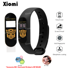 For Xiaomi Mi Band 2 Band2 Miband 2 Marvel Super hero Batman Spider Iron Man Protective Film Guard Full Screen Protector Cover