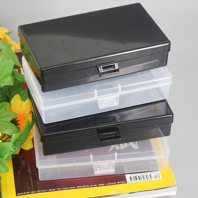 Organização de plástico Caixa de Plástico Caixa de Armazenamento Organizador de Maquiagem Clara Pintura Diamante Quadrado Cosméticos Armazenamento Caixa de Desktop Organizador