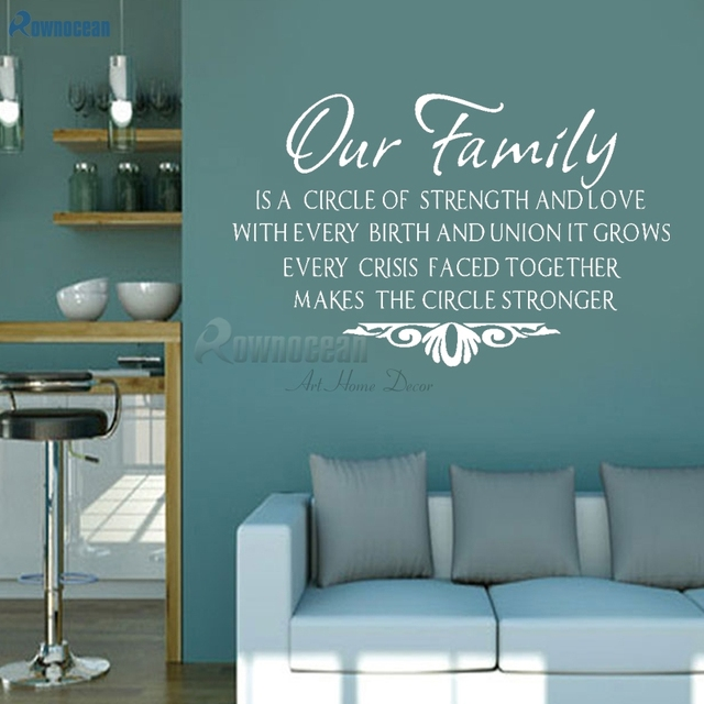 Our Family Modern Home Decoration Living Room Wall Stickers Quotes Phrases  Vinyl Wall Decals Art Wallpaper