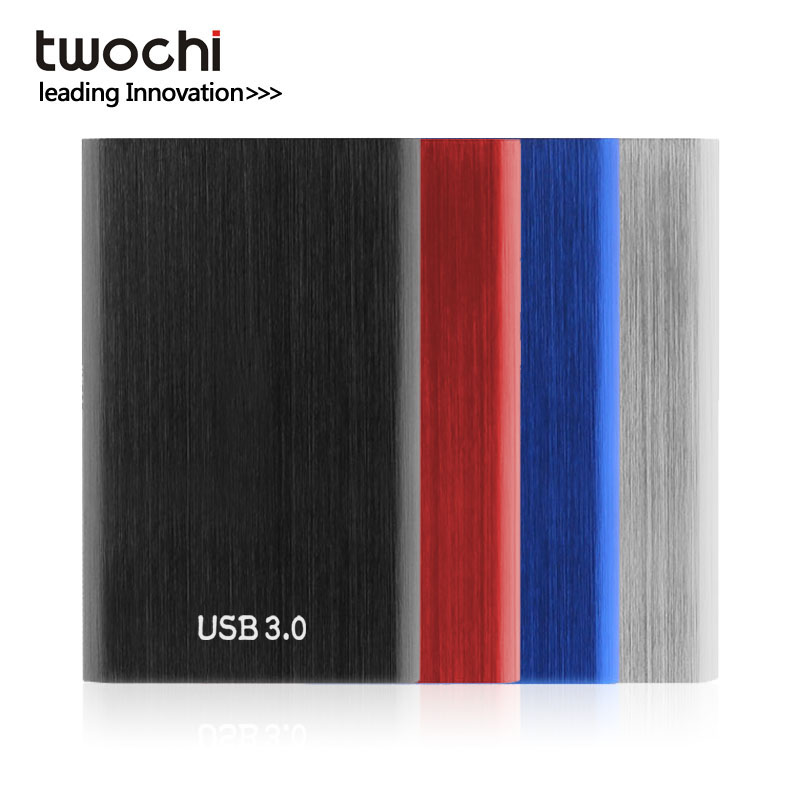 TWOCHI Metal Colorful HDD 2.5'' 250GB External Hard Drive 320GB USB3.0 HD 160GB Portable Storage Disk for PC/Mac Plug and play 1 8 160gb ssd ce zif pata replace mk1634gal 160gb 1 8 ce zif hdd hard disk drive for ipod classic 7th a1238