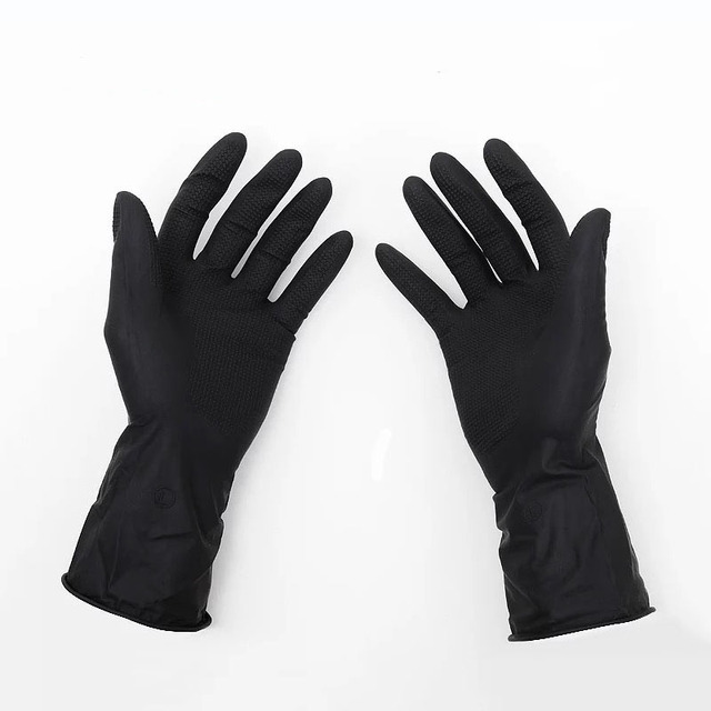 Antiskid Gloves Hair Perm Hair Shampoo Hair Coloring Black Latex ...