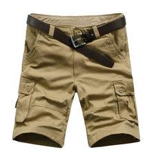 Nova chegada de alta qualidade homens camuflagem carga bermuda shorts casuais multi bolsos tático militar shorts para homens