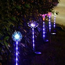 Waterproof Multi-color Changing Solar Lawn Lamps Garden Decorative Stake LED Light  52x52MM