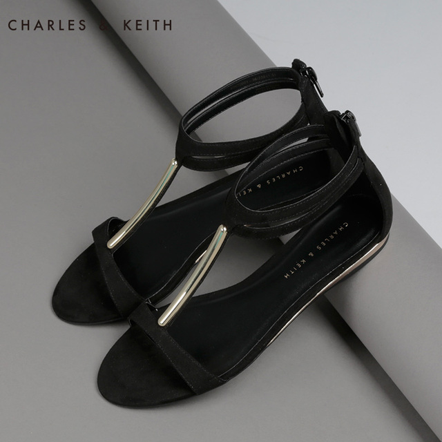 b8dbd6ee92749 Fashion sandals flat charles keith ck1-80970001 casual single shoes female  flat