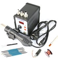 858D ESD Lötstation heißluft rework LED Digitale SMD Solder Blowser Heißluftpistole + Heizung 220 V 700 Watt