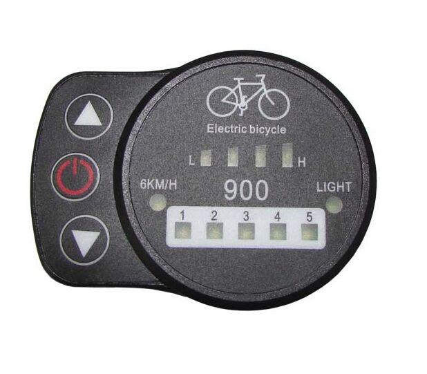 Купить с кэшбэком 24 v 36 v 48 v fonctionnelle velo electrique LED affichage 900 avec 5 niveau et 6 km/ heure pedale asisst ebike displayer