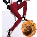 Leggings de Invierno de mujeres 2016 Nueva Moda Sexy Lápiz Pantalones de Las Mujeres Más Tamaño Ropa Pantalones Calientes Gruesos Pantalones Pantalon Femme A748