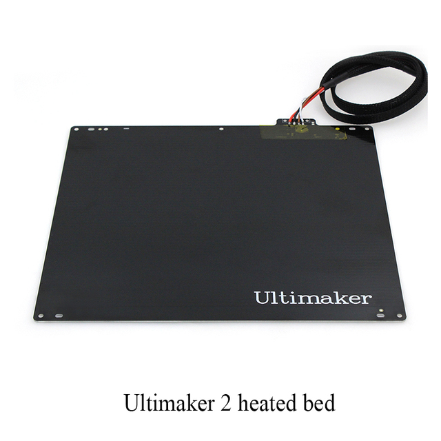 NEW 3D printer accessories DIY Ultimaker 2 UM2 hot bed / aluminum alloy UM2 heated bed plate with cable 3D0042
