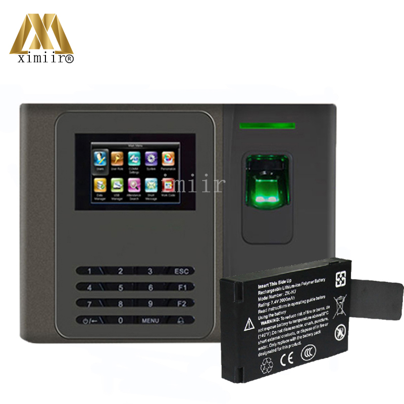 Biometric Fingerprint Time Attendance 6 Function Keys XM200 Fingerprint Time Recorder With Backup Battery Attendance Device