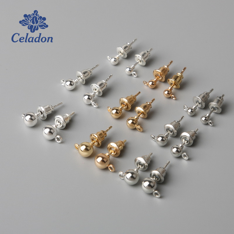 Beads & Jewelry Making 50 A Pack Of Metal Bullet Color Gold Silver Round Film Ear Plug Earplug Accessories