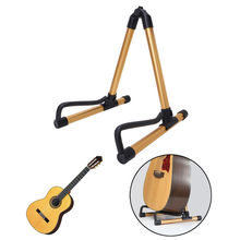 2017 Foldable Bass Electric Guitar Acoustic Stand A Frame Holder Hanger Floor Rack Musical Instruments Parts Stands Hangers New