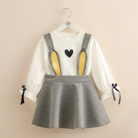 Children's Wear Children's Skirt New Autumn Girl's T shirt Girls Set