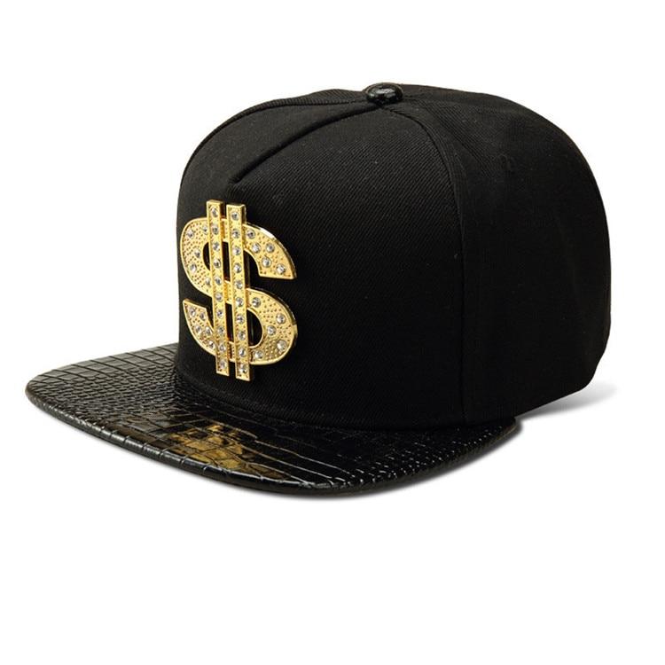 c5e561f92f46c Moda Bling Do Diamante EUA Dólar Sinal   Dinheiro Snapback hip hop chapéus  das mulheres dos homens Bonés de Beisebol de Aba Reta presentes de Cristal  em ...