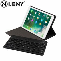 Onleny Wireless Bluetooth Keyboard PU Leather Cover Protective Case Wear Resistant Pad Supplies For IPad 9