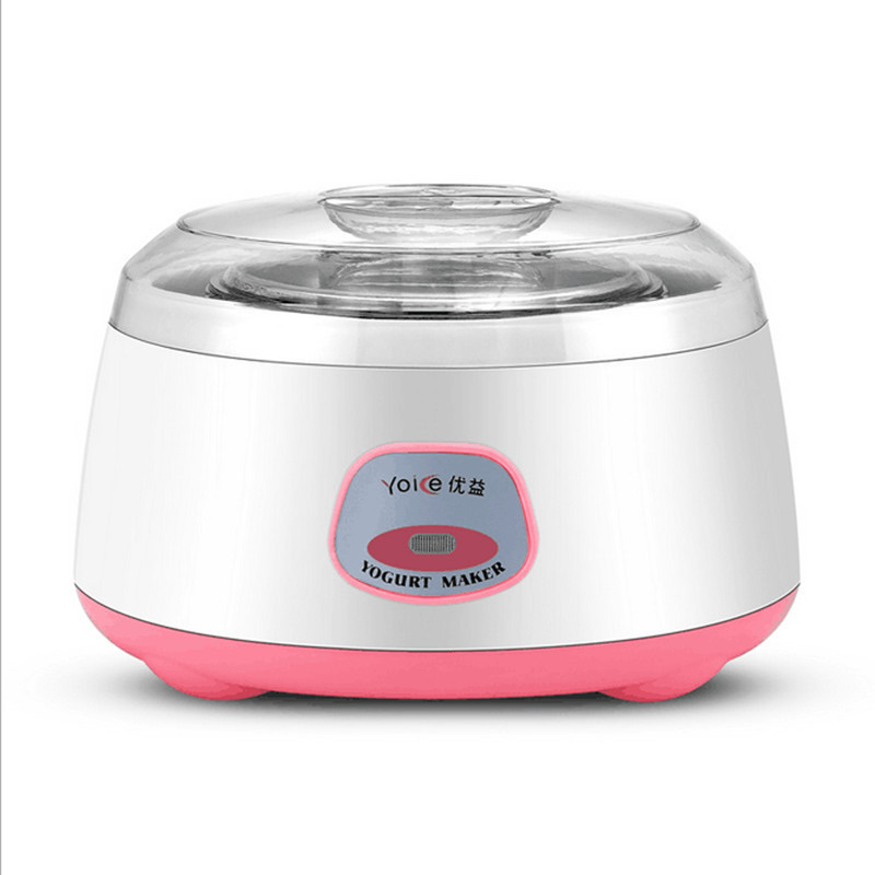 ФОТО 220V Multifunctional 1L Yogurt Machine Stainless Steel Inner Automatic Natto Yogurt Maker Household Kitchen Tool Breakfast