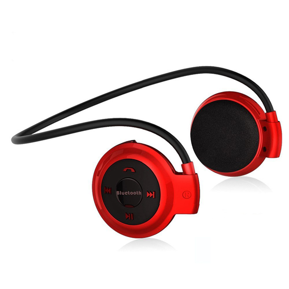 NVAHVA Bluetooth Kopfhörer MP3 Player Sport Drahtlose Kopfhörer Karte MP3 Player mit FM Radio Micro SD Karte Spielen Max zu 32 GB
