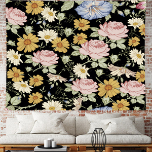 Image 5 - Nordic Style Summer tropical flower plantain macrame Tapestry Vintage Retro Polyester rose Wall Hanging home decor GN.PAPAYA