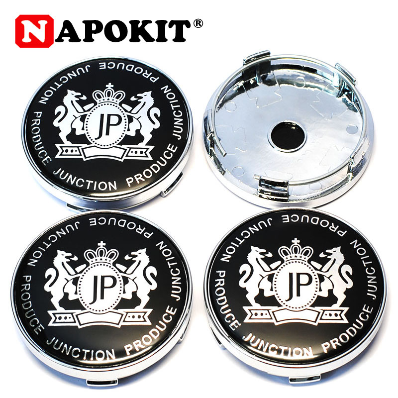 4pcs Car Styling 60mm with 56mm Aluminum JP Junction Produce Logo Car Tyre Rim Wheel Center Hub Cap Sticker Emblem Badge Hubcap-in Wheel Center Caps from Automobiles & Motorcycles