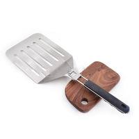 Pizza Shovel 1Pcs Cake Shovel Stainless Steel Pizza Tools Thin For Kitchen Accessories With Folding Handle Oven Tools