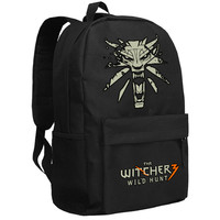 High Quality 2017 New Game The Witcher 3 Wild Hunt Printing Backpack The Witcher Backpack Canvas