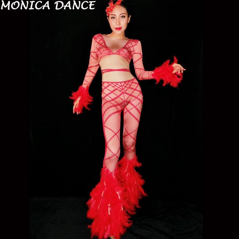 Сексуальный красный бандажный эластичный комбинезон с принтом женский наряд для певицы женский праздвечерние чный комбинезон для ночного клуба,