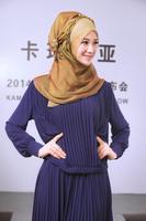 Fashion Muslim Women Silk Beading Flowers Headscarf High Quality Head Full Coverings Hijab Islam Girl's Cap KMS1408