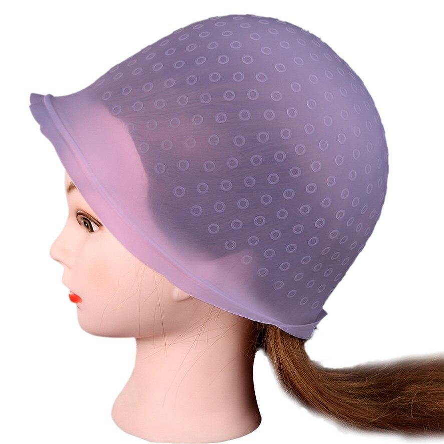 הגעה חדשה 1 PC ורוד סלון מקצועי לשימוש חוזר שיער צביעת ההבלטה דיי שווי כלים מפנה ציפוי צבע שיער וו כובע