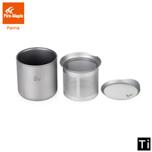Fire Maple Luxury Titanium Cup Outdoor Camping Mug Lightweight Teaware With Filter 168g 260ml FMP STM