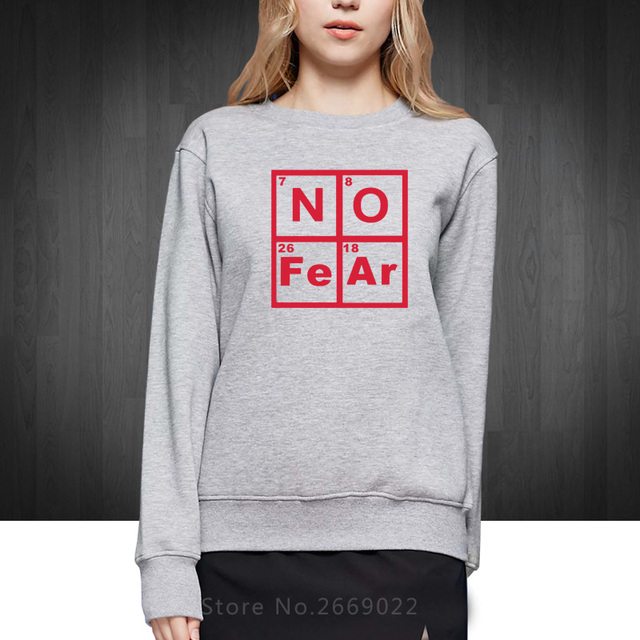 New autumn winter style novelty no fear periodic table of elements new autumn winter style novelty no fear periodic table of elements hoodies funny cute women girl urtaz Image collections