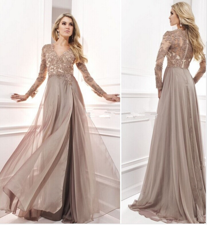 Unusual Mother Of The Bride Dresses: 2015 Elegant Long Sleeves Mother Of The Bride Dresses Plus