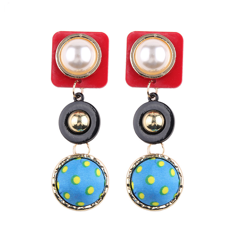 Best lady Bohemian Simulated Pearl Dangle Drop Earrings for Women Fashion Earring Multi Color Resin Jewelry Trendy Wedding Charm