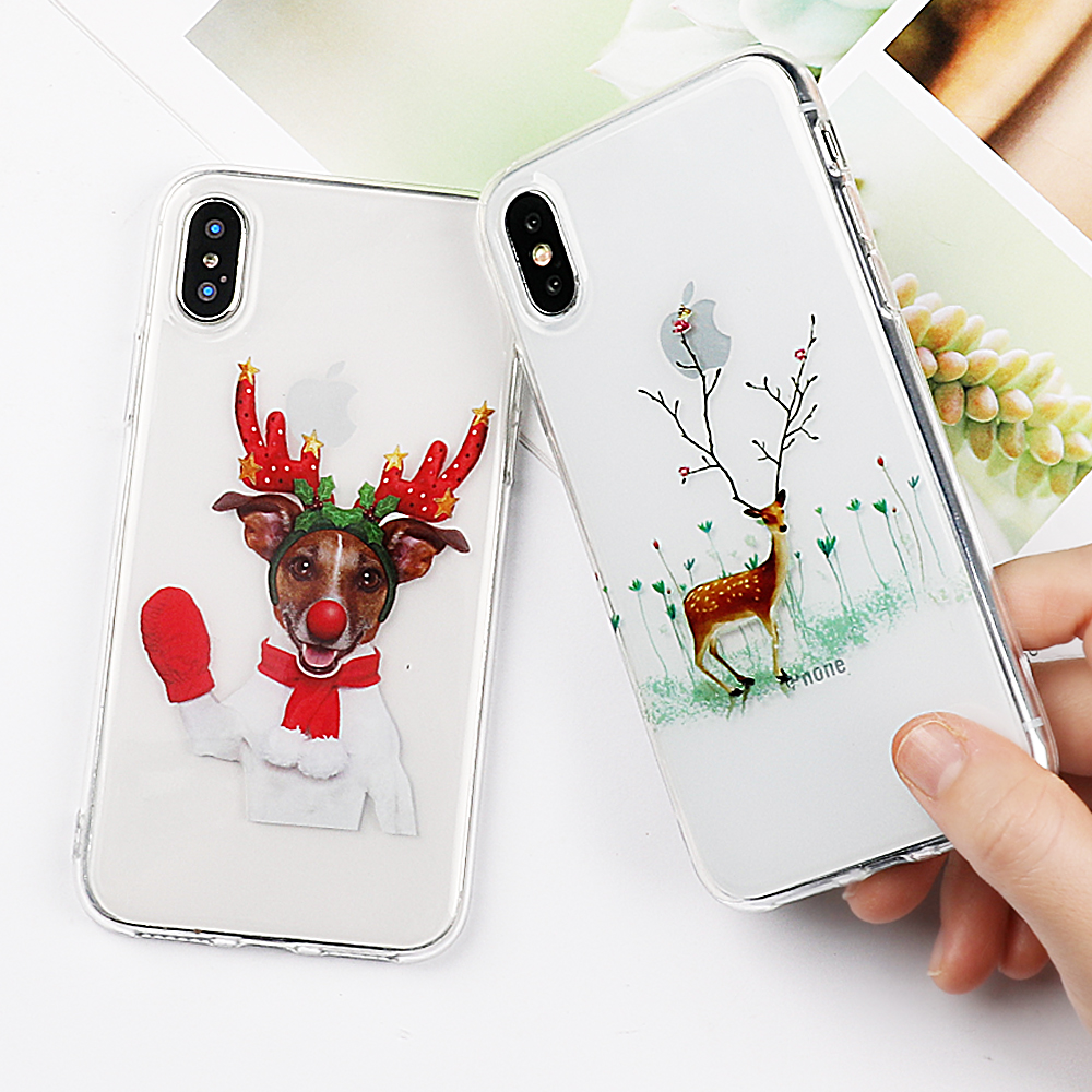 Vintage National Christmas Style Transparent Phone Case For Huawei P10 LITE MATE 10 LITE P20 PRO Y5 Redmi 4X 5A Sony L1