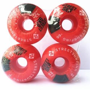 Image 5 - 4pcs/Set Quality skateboarding wheels with Graphics Wheels Rodas de Skate Professional Plastic 50/52/54/56mm Skateboard Wheels