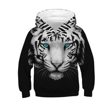 Sweatshirts For Boys 3D Print Boys Hoodies Girls Kids Clothes Long Sleeve Tees Top Hooded Lion Cartoon Jacket Coat Spring Autumn недорого