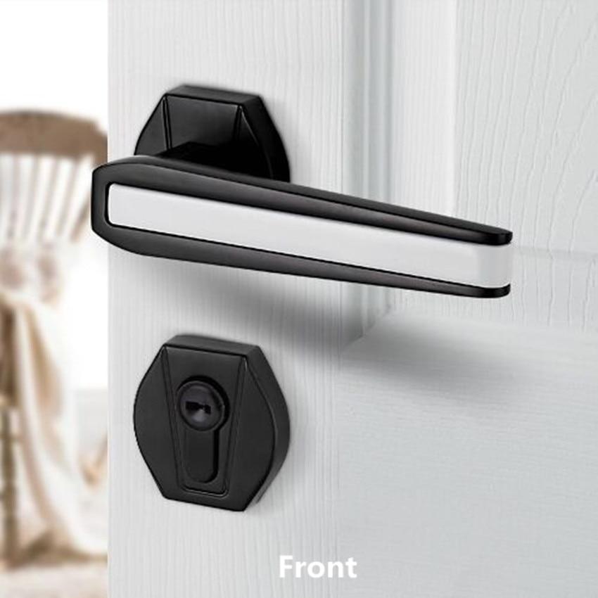 Black and white silence split lock American door lock bedroom kitchen bookroom solid wooden door Silent split door lock split