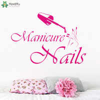 High Quality Girls Beauty Salon Wall Decal Nails Salon Vinyl Wall Stickers Manicure Fashion Design Hands Interior Decor SYY844