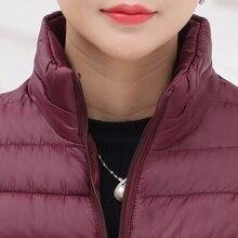 5XL Plus size Casual ultra light short jacket Winter jacket Women Snow wear fashion thicken
