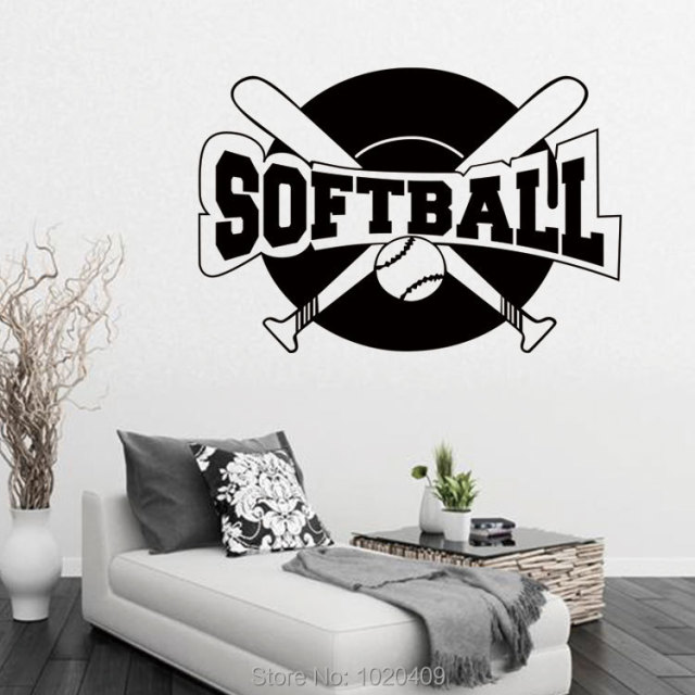 Exclusive Direct Wall Sticker Home Furnishing Decorative Softball