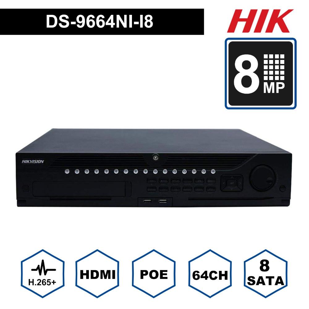 In Stock Hik Professional 64 Channel CCTV System DS-9664NI-I8 Embedded 4K NVR Up to 12 Megapixels Resolution 8 SATA 2 HDMIIn Stock Hik Professional 64 Channel CCTV System DS-9664NI-I8 Embedded 4K NVR Up to 12 Megapixels Resolution 8 SATA 2 HDMI