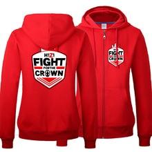 Game H1Z1 Costumes Men's Women's Coat Casual Zip-up Crown Hooded Hoodies & Sweatshirts Unisiex Clothings Spring Antumn Red Tops