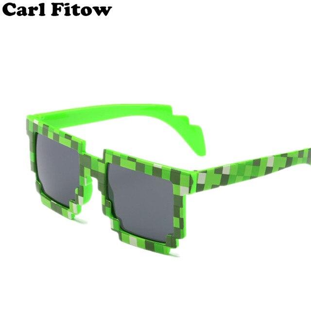 2017 Kacamata BARU Minecraft 8 bit Pixel Wanita Pria Sunglasses Perempuan  Laki-laki Kacamata Matahari c3f3252caf