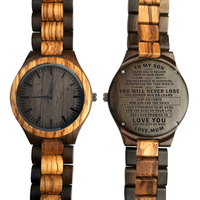 Wooden Watch Wood Watch Engraved Watch Mom To Son Believe Deep Capable Achieving Your Mind To Love Your Rest of Mine You Will Ne