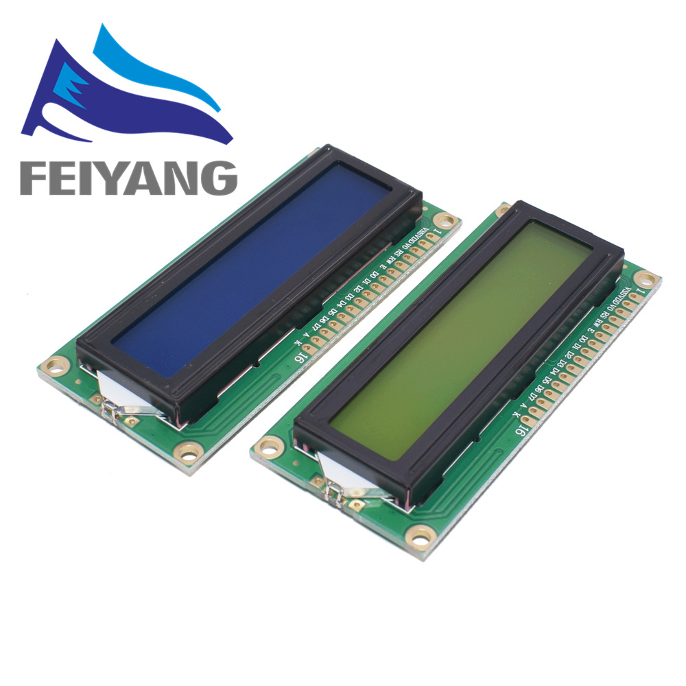LCD1602 1602 LCD Module Blue / Yellow Green Screen 16x2 Character LCD Display PCF8574T PCF8574 IIC I2C Interface 5V For Arduino