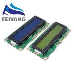 ЖК-дисплей 1602 1602 Модуль ЖКД синий/желто-зеленый экран 16x2 персонажа ЖК-дисплей Дисплей PCF8574T PCF8574 межсоединений интегральных схем I2C Интерфейс...