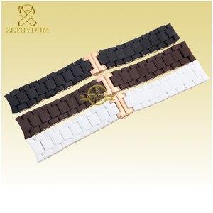 Image 4 - Gomma di Silicone del Cinturino del silicone wristband del braccialetto in oro Rosa fibbia per AR5905 AR5906 AR5919 AR5920 20 23 millimetri watch band strap