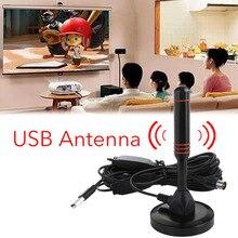 2019 New Indoor Gain 22dBi Digital DVB-T Television USB Aerial Antenna for TV HDTV Antennas Black