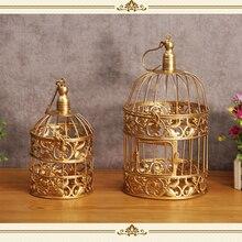 2 unids jaula de oro de la boda soporte de la magdalena para bar de decoración de cocina herramientas de la torta para hornear partido vajilla