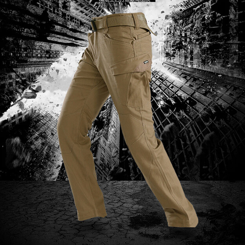 ФОТО High Quality Tactical Military Multi Pockets Wear-resisting Cargo Pants Straight Long Baggy Outdoor Cotton Trousers Size S-XXL