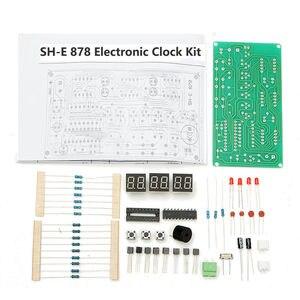 Image 5 - 5 فولت 12 فولت AT89C2051 متعددة الوظائف ستة LED الرقمية لتقوم بها بنفسك طقم الساعة الإلكترونية SH E 878