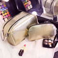 2016 Korean Style Luxury Ladies Makeup Bags Double Zipper Cosmetic Bag 2pcs/Set Organizer Travel Wash Bag Storage Cosmetic Case